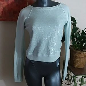 ABERCROMBIE powder blue sequined embellished